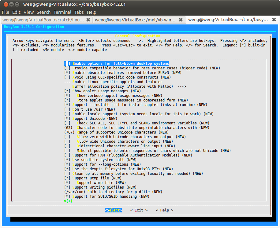 Building linux system (kernel + root file system) from