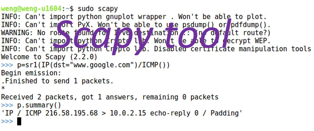 Scapy Tool